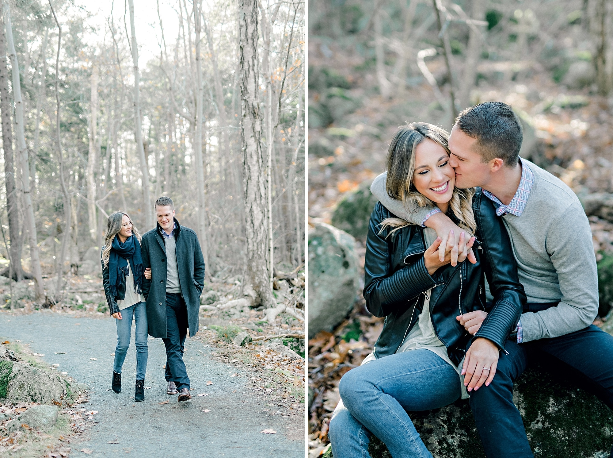 fall engagement photoshoot with leather by candace berry