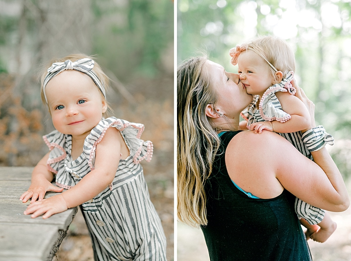 baby girl kissing her mom hard on the face
